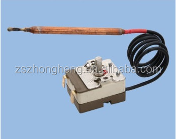 Capillary thermostat for electric water heater