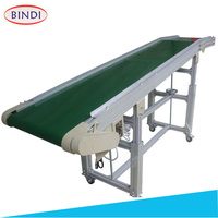 Adjustable Height PVC Flat Belt Conveyor