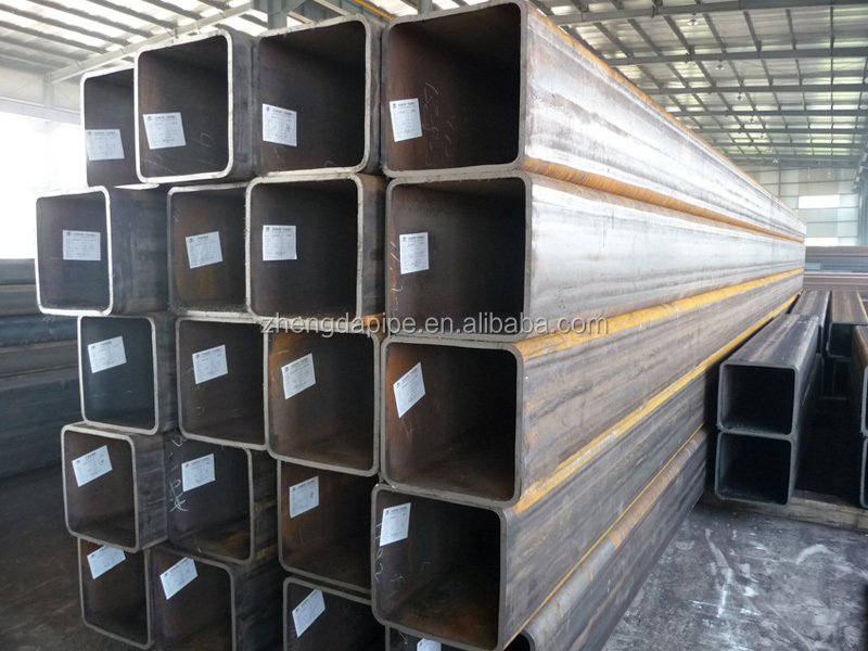 Q235 steel /black ERW square and rectangluar steel pipe/ hollow section