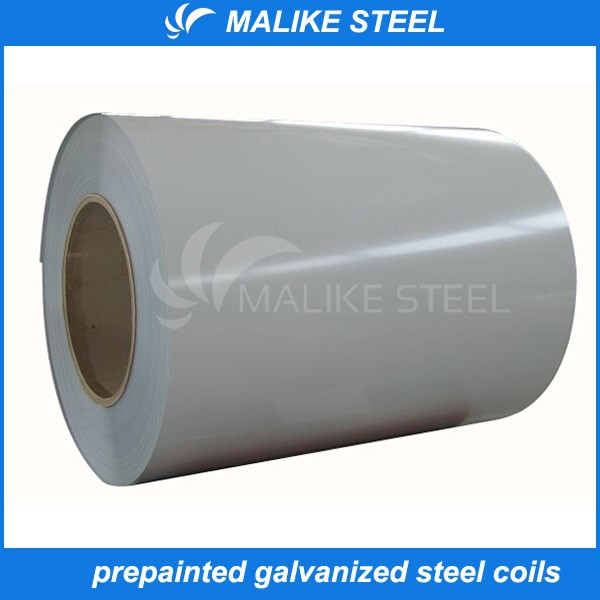 0.12-1.5mm thickness white grey color ppgi steel coil construction materials