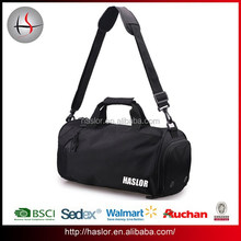 Wholesale custom made sport mens travel bag with shoe compartment