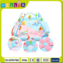Wholesale New design baby hanging toy printing pink children folding play mat