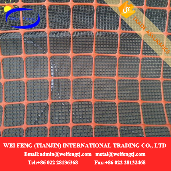 Plastic Orange Safety fence netting and green/black barrier mesh