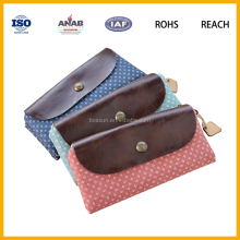 Small Plain Style Cotton Cosmetic Makeup Kit Bag Toiletry Pouch for Women