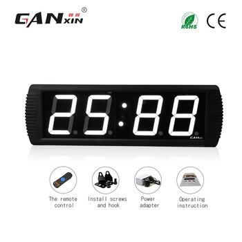 "[GANXIN]4"" Personalized Remote Control 7 segment Led Clock Display Indoor Use 2-Year Warranty"