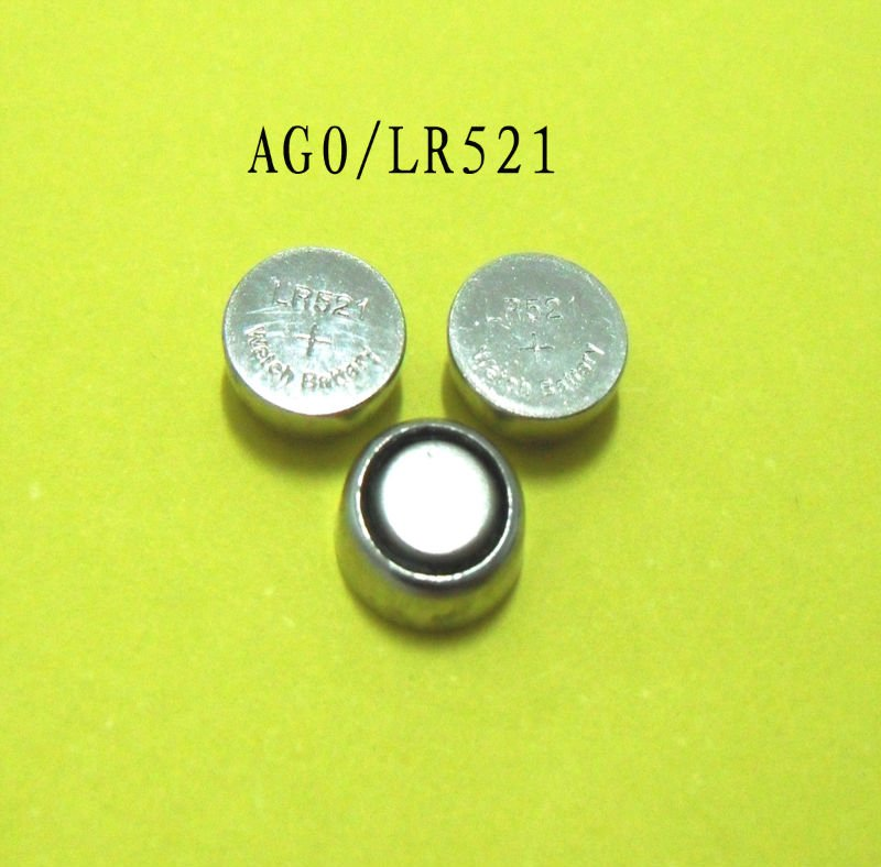 Mercury-Free Environmental AG0,LR521,LR63,SR5211.5V Alkaline button cell for watch battery