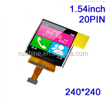 "Special small display 1.54"" inch tft screen module"