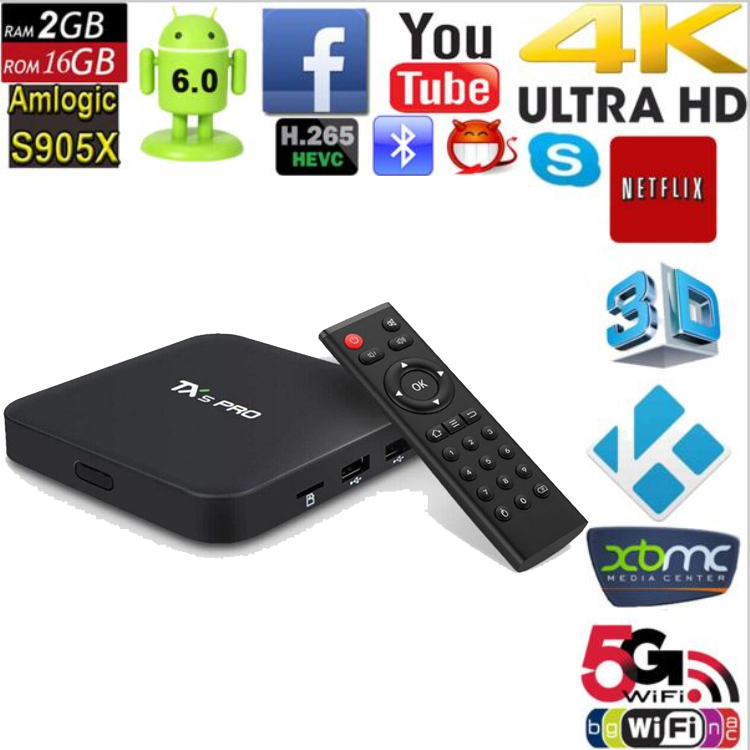 Online Free Live Tv Channels Kodi 16.1 4K 2K Full HD 2gb Ram 16gb Rom S905X TX5 PRO streaming tv box