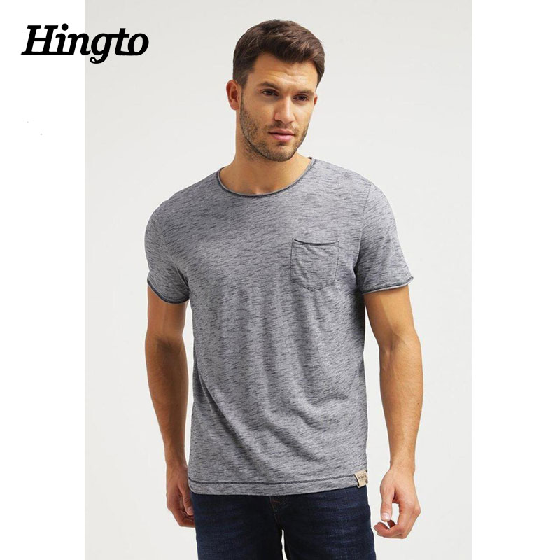 Cool cotton polyester mens lightweights tee shirts , Blank gray color t shirts