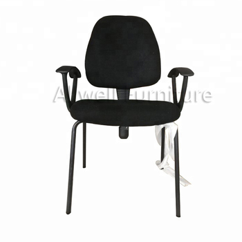 Back adjust height chair with four legs for office