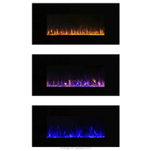 "42"" fake flame 3 color wall mounted electric fireplace heater"