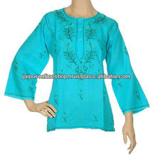Exporter and Supplier of Stylish Lucknow Chicken Kurta / Tunics