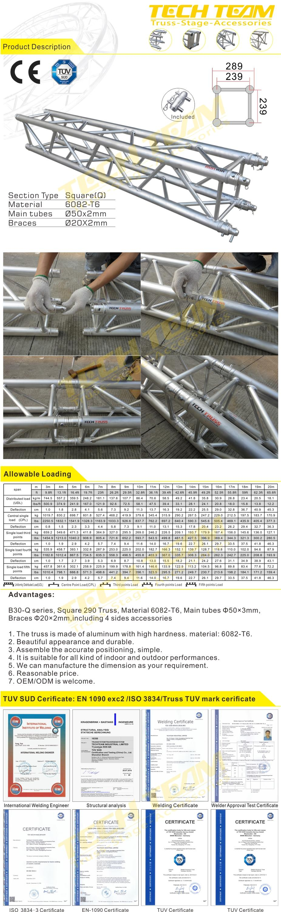 outdoor used aluminum truss, aluminum roof truss, truss tent