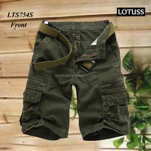 2016 quality 100% cotton men short pants with side pocket