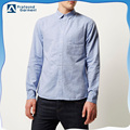 Regular fit Button-up casual blue oxford shirts for men