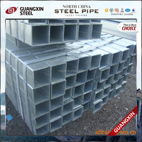 rectangular zinc plated hollow steel pipe galvanized rectangular tube for lean production