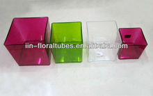 Acrylic cube vase for flowers