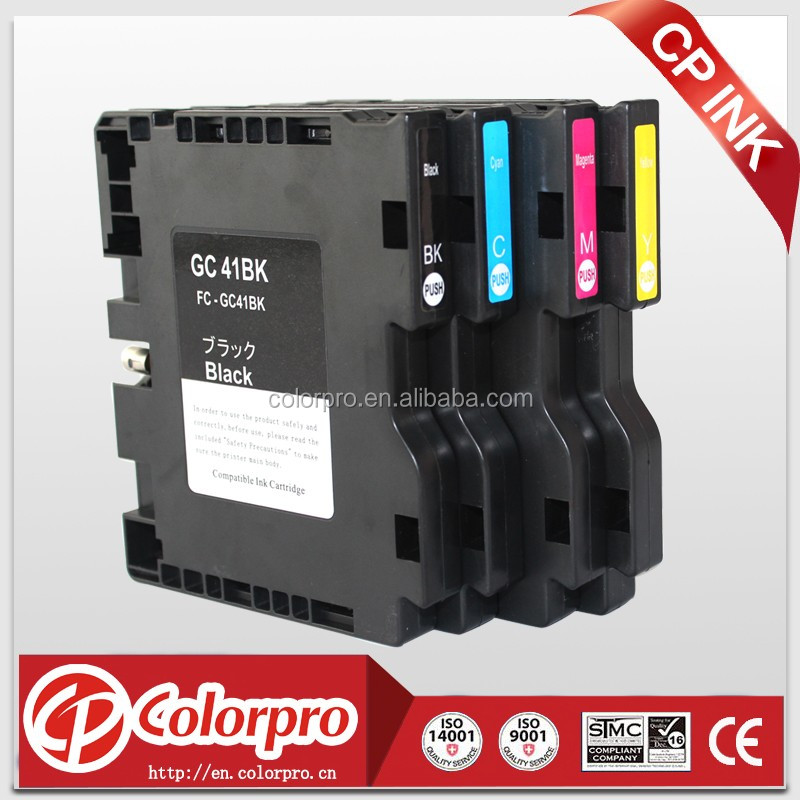 BK/C/M/Y,Compatible ink cartridge GC41 for Ricoh, GC41 for Ricoh SG2100 2010 3100 3110 7100 7100dn printer