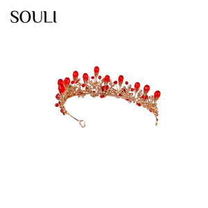Factory price jewelry fashionable crysta head tiaras and crowns for wedding