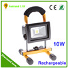 Factory price 10 watt COB rechargeable led floodlight waterproof 10w led work light for outdoor