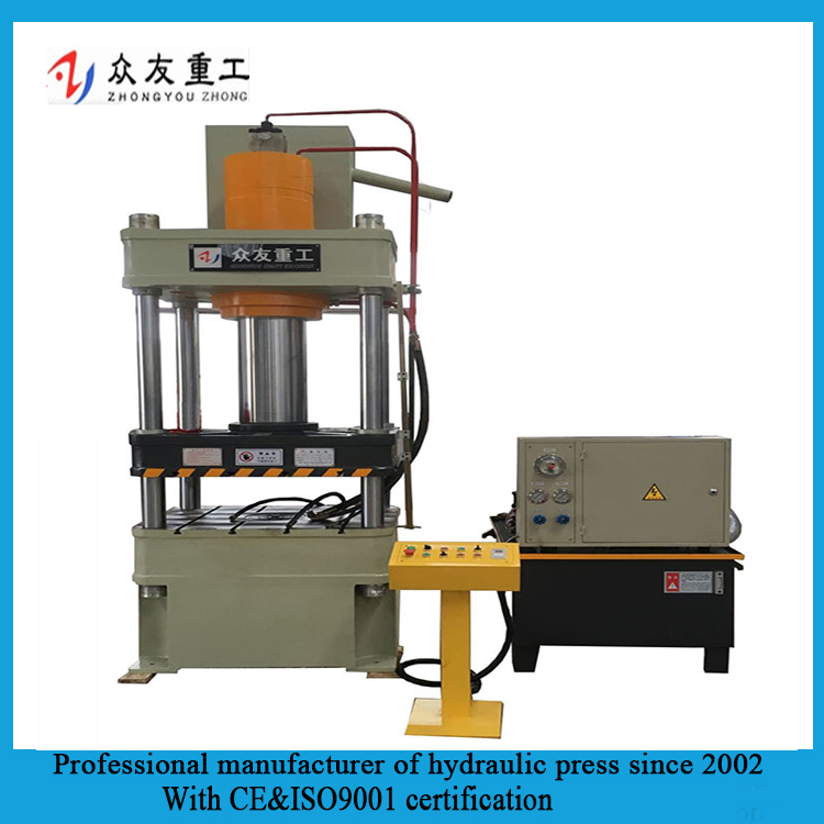 Stretch forming four column hydraulic press for Kitchen Cookware