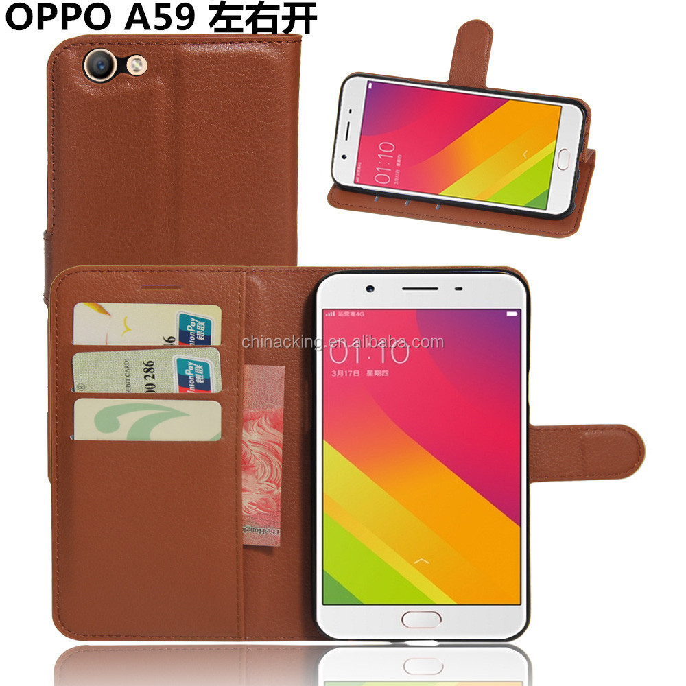 Luxury PU Leather Wallet Case Flip Cover for OPPO F1s