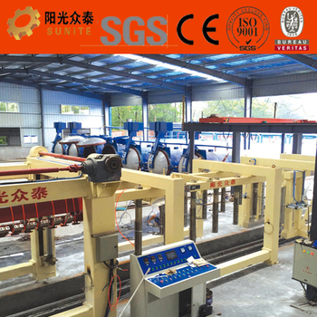 Hydraulic press aac brick prodution line / High Workability aac block machine for sale