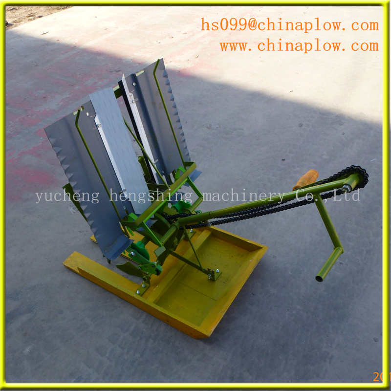 Two rows manual rice transplanter