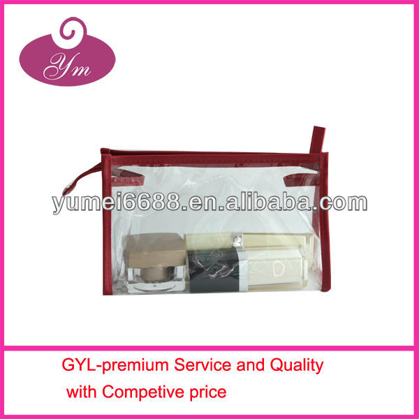 2014 0.3mm clear PVC waterproof high quality cosmetic bag
