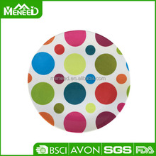 Happy polka dot new design wholesale wedding decorations dinner plates