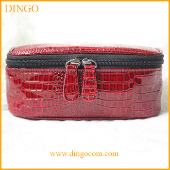 Custom Fashion Elegant PU leather cosmetic bag