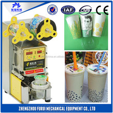 Hot sale disposable cup sealing machine/cup sealing machine