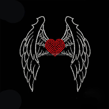 Angel Wings iron on applique wholesale rhinestone transfer for dress