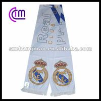 Real Madrid club design football fan scarf
