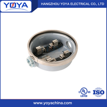 electrical 3 phase round meter base battery box