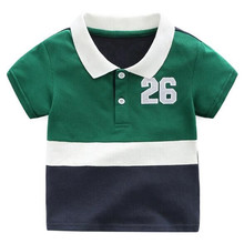 Wholesale newborn baby clothes T-shirt 100% Cotton Organic Long Sleeve Baby polo Tshirt