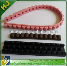 elastic silicone belts with flower buckle