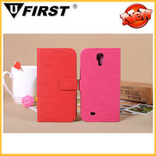 For sumsung galaxy s4 leather case with high quality