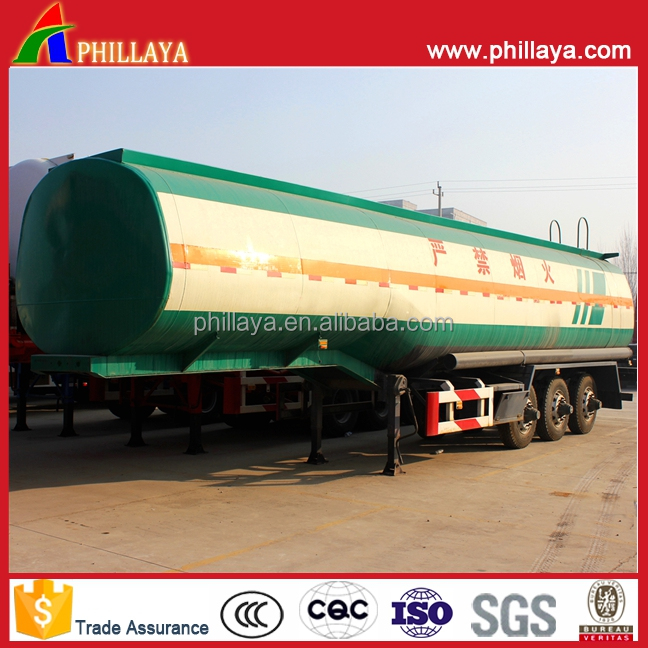 PHILLAYA Steel Tank Man Diesel Trailer Truck/Aluminum Tanker Fuel Oil Transport Semi-Trailer
