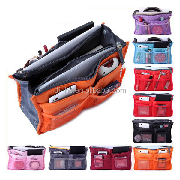 2016 Hot Sale Big Volume Zippered Organizer Bag in Bag Handbag Organizer Bag Organizer