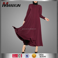New Model Fancy Abayas Women Muslim outwear abaya Design Red Open Abaya