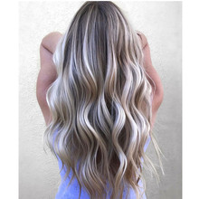 High quality 10A grade balayage ombre highlights mongolian human hair free parting full lace wig