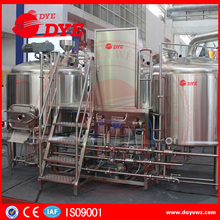 Microbrewery equipment with 2-vessel brewhouse