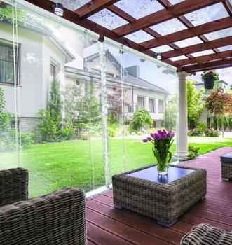 Outdoor blind PVC transparent roller blind for garden patio