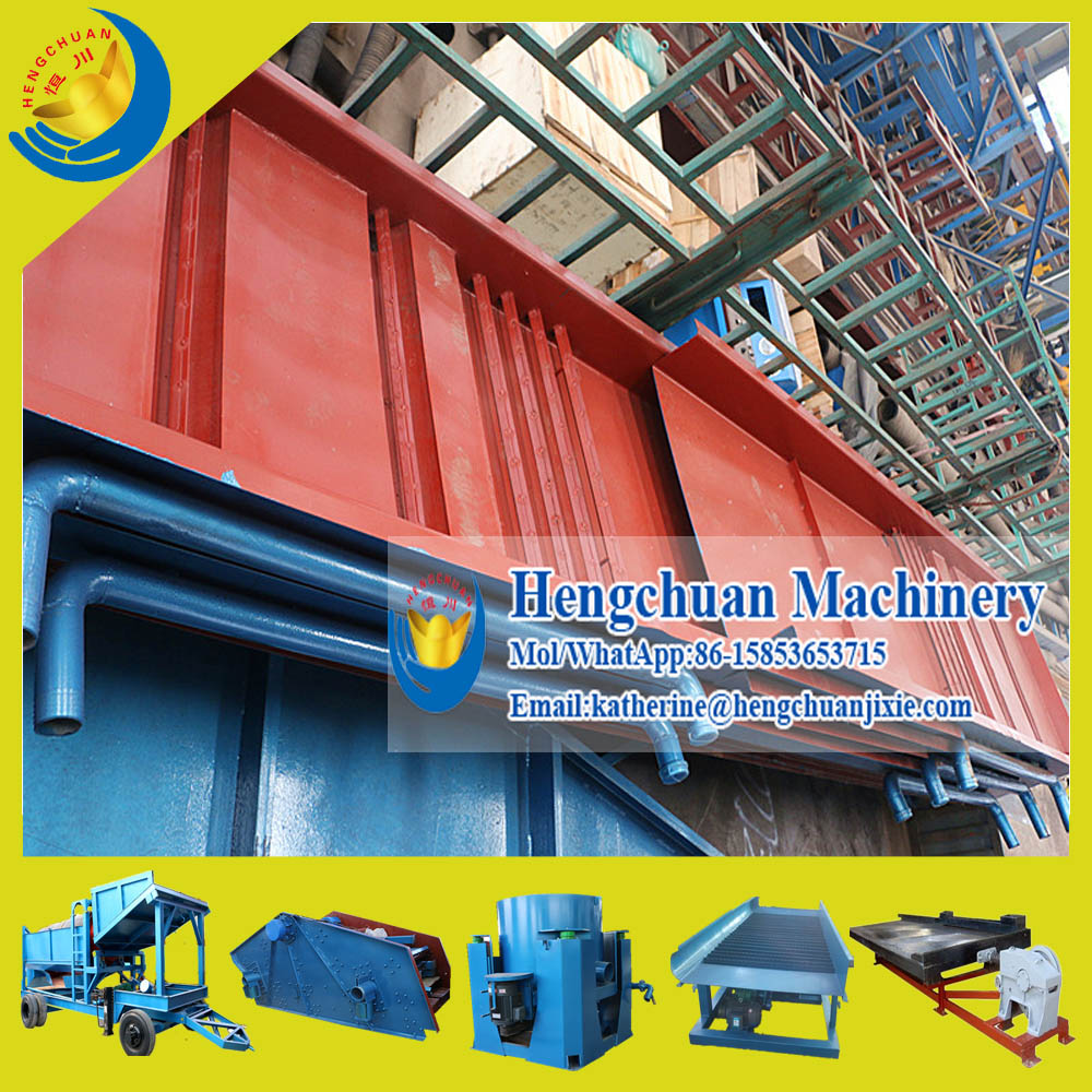 China Supplier Qingzhou Hengchuan Widely Used Economic Portable Underflow Gold Sluice Box for Sale