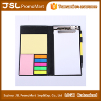 Promotion recycled journal recycled Kraft Paper cover notebook with pen and sticky notes