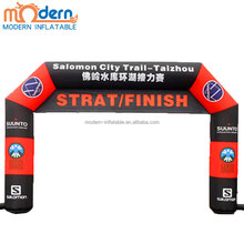 2018 Hot Sale Outdoor Start/Finish Inflatable Sports Running Arch with hanging banner