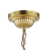 Modern chandelier light in gold plated finished for home decoration from Zhongshan supplier