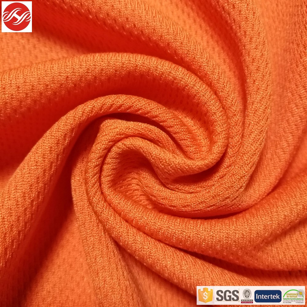 Knitted eyelet dri fit polyester fabric for sportswear