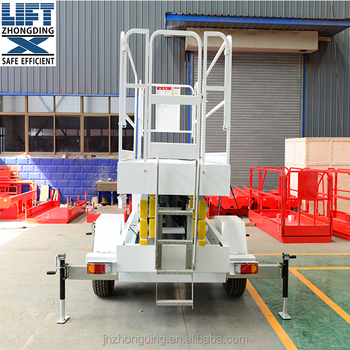 Traction portable scissor lifting platform